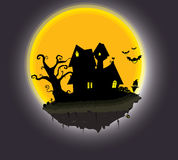 Halloween set. Fear the nightmare halloween background Royalty Free Stock Image