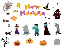 Halloween set2 vector illustratie