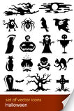 Halloween set icon. Vector illustration isolated on white background Royalty Free Stock Photography