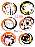 Halloween set icons Stock Photo