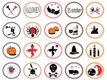 Halloween Set Icons Royalty Free Stock Photos
