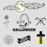 Halloween set. Halloween icons and logo set Royalty Free Stock Image