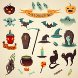Halloween set. Set of halloween icons. Halloween set. Vector Icons Royalty Free Stock Image