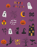 Halloween set, ikony Zdjęcie Royalty Free