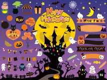 Halloween set stock illustration