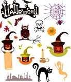 Halloween set. Vector Illustration of a halloween set Royalty Free Stock Photo