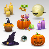 Halloween set Royalty Free Stock Photo