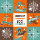 Halloween set of illustrations Stock Image