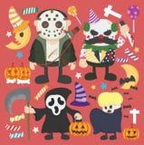 Halloween set Infographic Elements of illustration,Joker,murder Royalty Free Stock Image