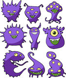 Halloween set of monsters Stock Photography