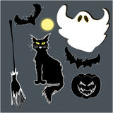 Halloween set of objects Royalty Free Stock Images