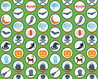 Halloween Set Pattern Green Stock Photos