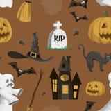 Halloween set pattern Stock Photography