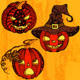 Halloween set pumpkin Stock Photography