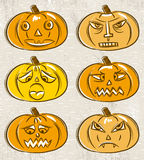 Halloween set with pumpkins Royalty Free Stock Photos