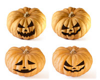 Halloween set 2 Pumpkins Royalty Free Stock Image