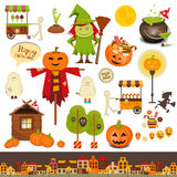 Halloween Set of Trick or Treat Objects Royalty Free Stock Images