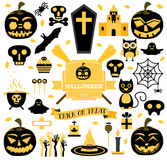 Halloween Set. Vector Illustration. Royalty Free Stock Photography