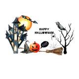 Halloween set. Royalty Free Stock Image