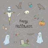 Halloween setu wzór Fotografia Royalty Free