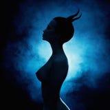 Halloween sexy girl devil Stock Photography