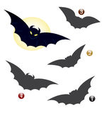 Halloween shape game: the bat. Halloween game for children: Find the exact shape of the bat Stock Photography