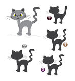 Halloween shape game: the cat. Halloween game for children: Find the exact shape of the cat Stock Images