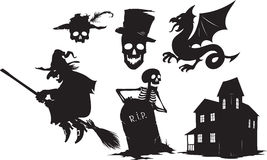 Halloween shapes Royalty Free Stock Images