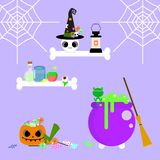 Halloween with shelf vector illustration