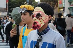 Halloween in Shibuya Lizenzfreie Stockbilder