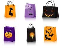 Halloween shopping bags. A set of six Halloween shopping bags Stock Image
