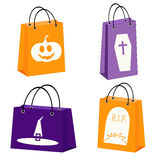 Halloween shopping bags Royalty Free Stock Photography