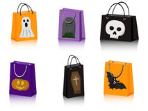 Halloween shopping bags Royalty Free Stock Photo