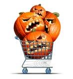Halloween Shopping Stock Photography