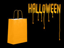 Halloween shopping, preparations background Stock Photos