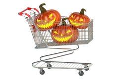 Halloween Shoppingcart Stock Images