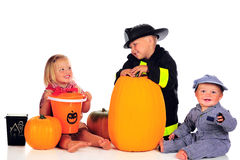 Halloween Siblings Stock Photography
