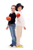 Halloween siblings Royalty Free Stock Photo