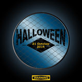 Halloween sign in a border Royalty Free Stock Image