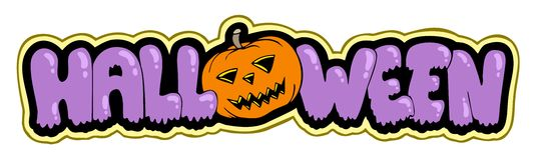 Halloween sign with pumpkin Stock Photos
