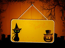 Halloween sign on wood Royalty Free Stock Photos