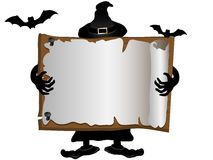 Halloween signboard Royalty Free Stock Photography