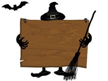 Halloween signboard Royalty Free Stock Images