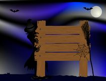 Halloween signboard Royalty Free Stock Photo