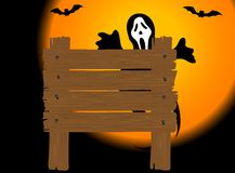 Halloween signboard Royalty Free Stock Image