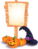 Halloween signboard Stock Images