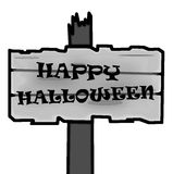 Halloween signpost blank Royalty Free Stock Photography
