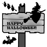 Halloween signpost Royalty Free Stock Photos