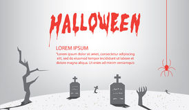 Halloween Signs of gray for content With a background as a tomb. Illustration vector halloween Signs of gray for content With a background as a tomb flat style Stock Images