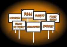 Halloween signs Stock Images